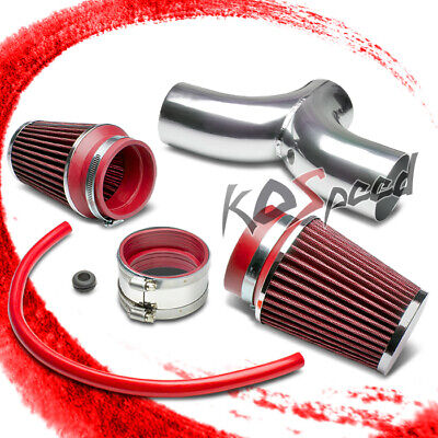FOR 97-04 CHEVY CORVETTE C5 LS1//LS6 DUAL INTAKE INDUCTION PIPE+BLUE AIR FILTER