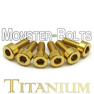 Guitar Saddle Intonation Screws Gold Anodized Titanium Floyd Rose Tremolo