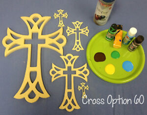Details About Wooden Cross Shape Wood Wall Hanging Cross 60 Paintable Wood Cross Craft
