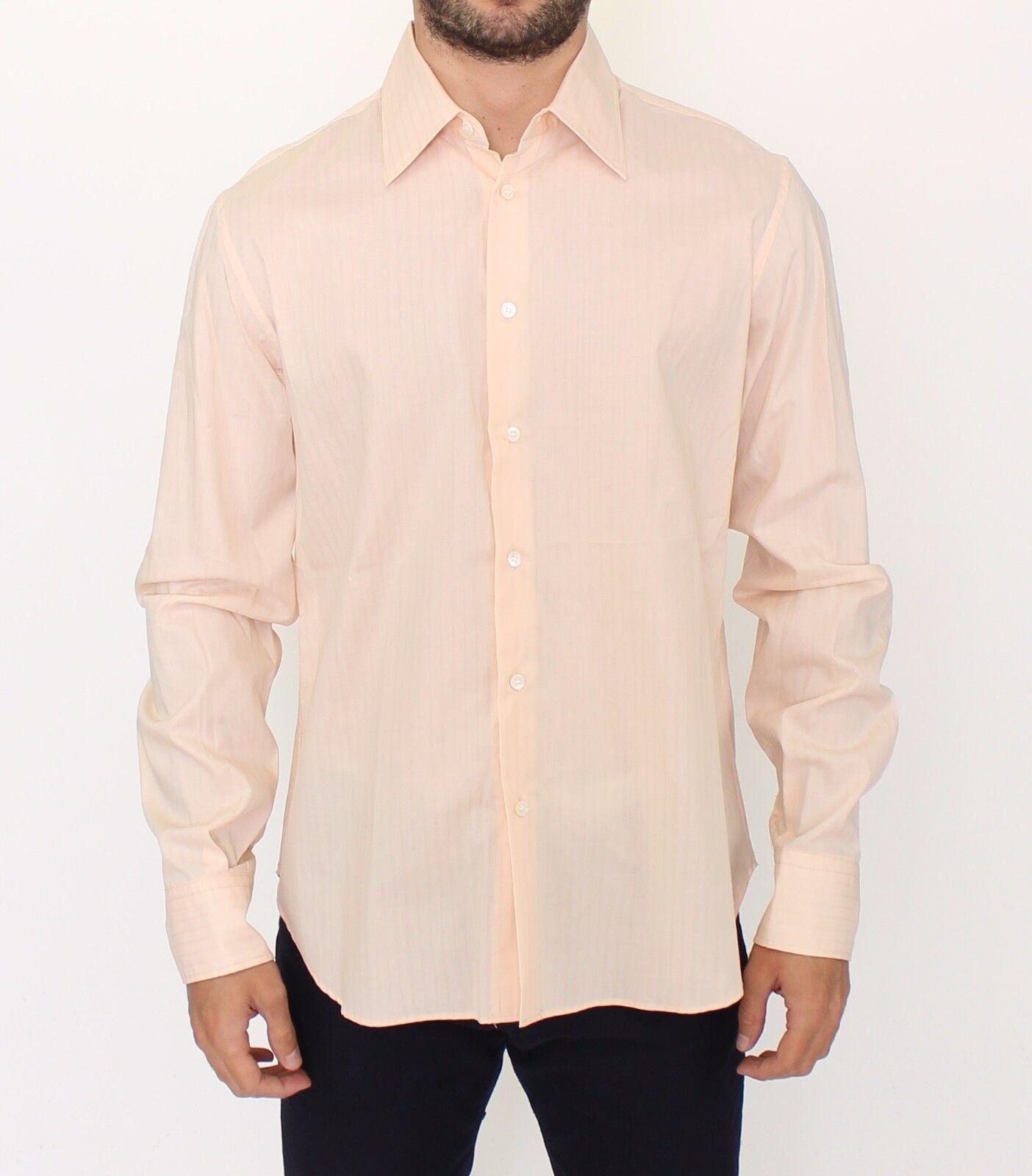 NEW  ERMANNO SCERVINO orange Cotton Striped Casual Shirt Top s. IT50   L