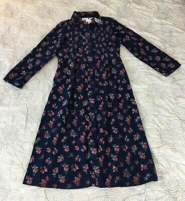 Vermont Country Navy Blue Print Dress Size 2X