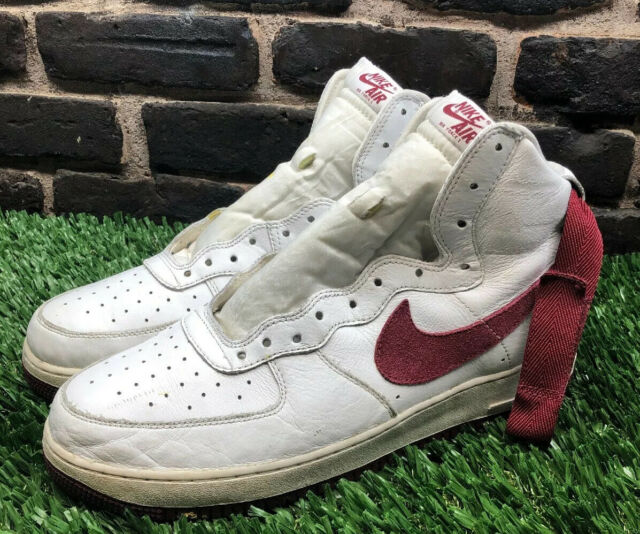 Nike Air Force 1 Hi Retro QS Team Red White Mens Shoes SNEAKERS Af1 743546 106