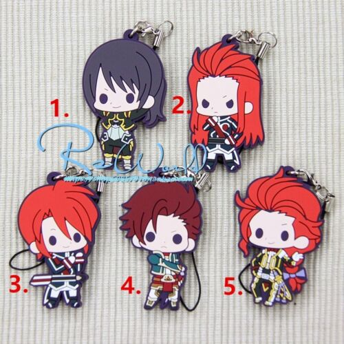 Tales of Friends Tales of series Vol.4 Anime Rubber Strap Keychain Keyring Charm