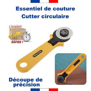 CUTTER-ROTATIF-COUTEAU-LAME-CIRCULAIRE-COUTURE-TISSU-PLASTIQUE-SCRAPBOOKING