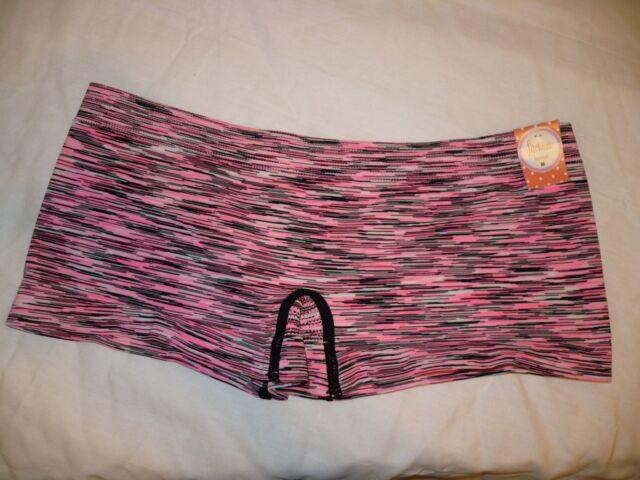 3b39dfd6a2df09 Flirtitude Women's Boyshort Panties Size X-Large Space Dye Pink Black NEW