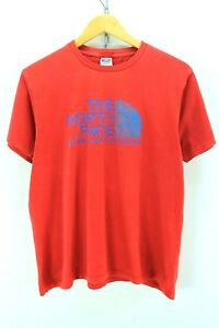 The-North-Face-Men-039-s-Tshirt-Size-M-Red-Crewneck-Cotton-Graphic-Tee-EF1608