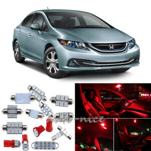8x premium red led interior lights kit for 2013 2015 honda - 2015 honda accord interior illumination ...