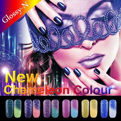 New Glossy-N Nail Art Polish Thermal Temperature Color Changing UV LED Soak off