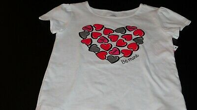 Girls' Clothing (newborn-5t) Girl's Size 2t Shirt Hearts Nwt Baby & Toddler Clothing