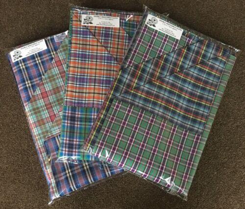 UNIQUE DOUBLE SIDE TABLE CLOTHS Check Design  2 SIZES CHOICE OF COLOUR