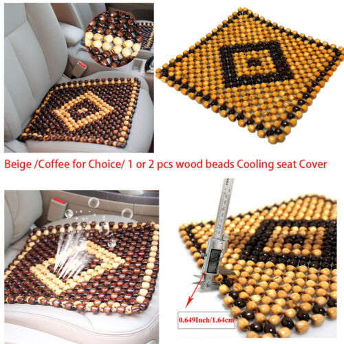Massaging Car Seat Cover Natural Wood Beads Cool Mat Breathing Chair Cushion