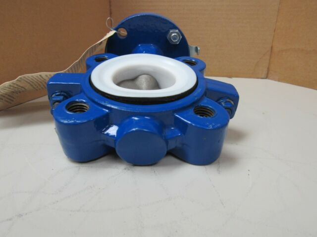 "ABZ Valves /& Controls 919-953 Butterfly Valve Cast Iron Stainless Disc 6/"" 316ss"