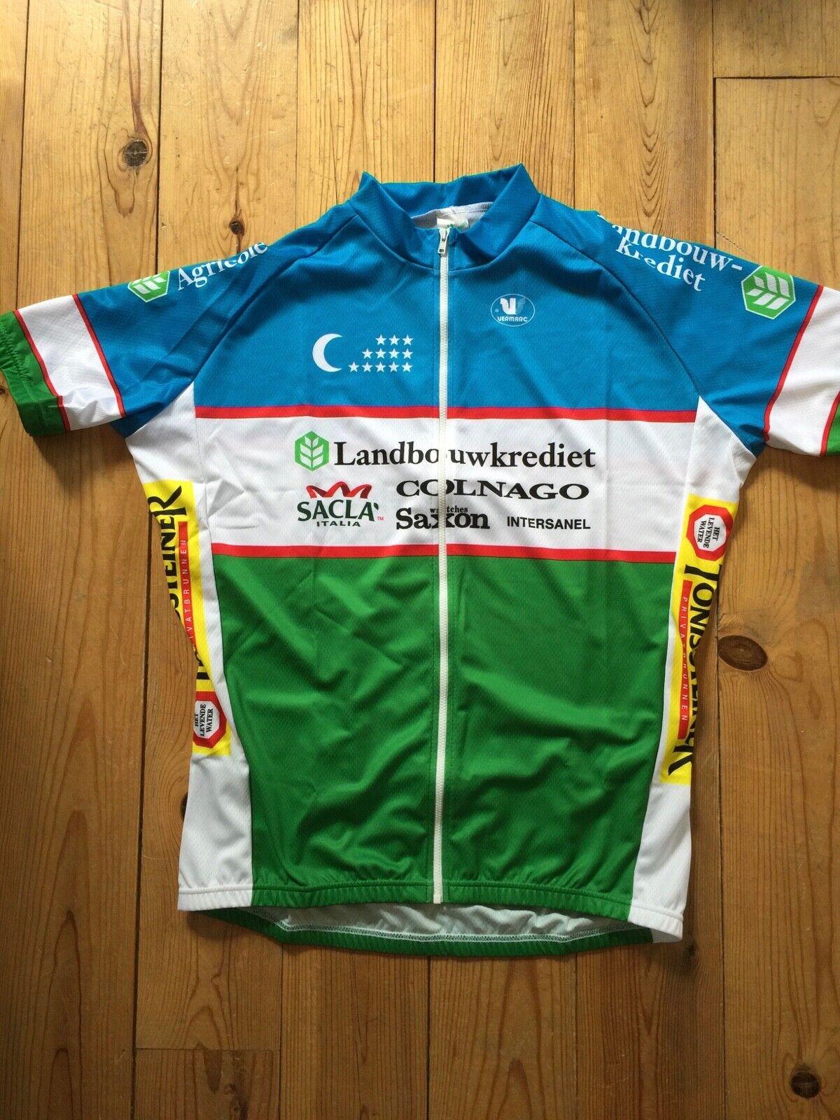 New Team Landbouwkrotiet Colnago Uzbekistan Champ. Radfahren Sie Jersey -  Größes