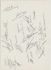 GREECE EURO 1984 ORIGINAL HAND SIGNED LARGE BOOK PAGE WITH 18 X SIGNATURES