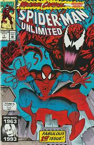 SPIDER-MAN-UNLIMITED-1-1ST-APP-SHRIEK-MAXIMUM-CARNAGE-NM-PRIORITY-amp-FREE-INS