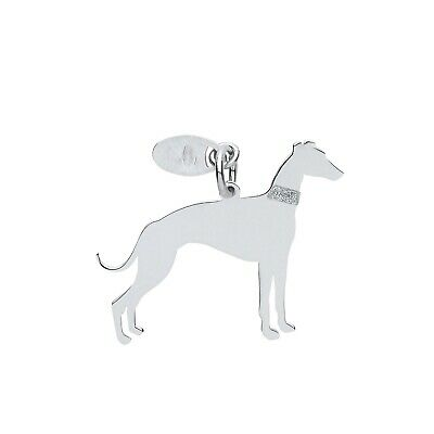 "Adaptable Silver Greyhound Dog Pendant Solid Silver 925 Stamp Pet Jewellery 14-30"" Chain"