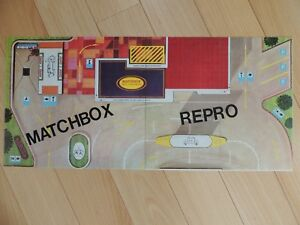 Matchbox-Lesney-1967-MG-1-BP-Service-Garage-Forecourt-Repro