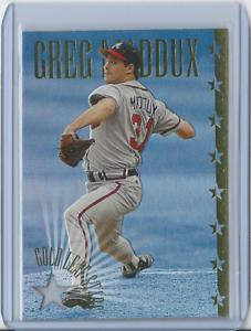 GREG-MADDUX-1995-Leaf-Gold-Leaf-Stars-9-Braves-HOF-NM-3601-10000
