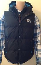 BNWT Mens Superdry Polar-Camping Vest Black Bodywarmer Gillet Size Medium