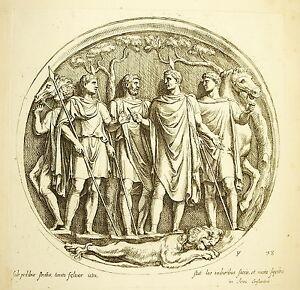 La-Chasse-Au-Lion-Hunting-Hunt-Arc-Of-Constantin-Scl-Xvii-Francois-Perrier-1645