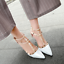Womens-Patent-Rivets-Heels-T-Straps-Sandals-Pointed-Toe-Shoes-Stilettos-Zsell thumbnail 3
