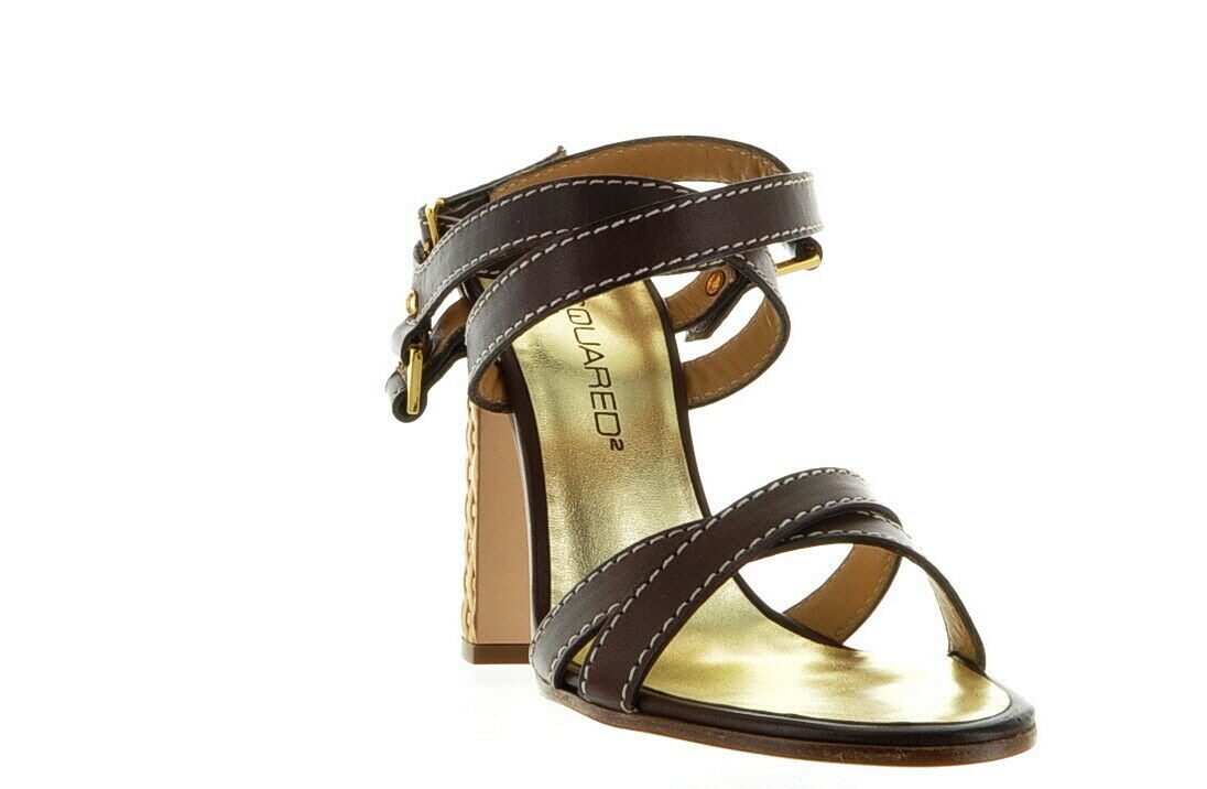 1299 Dsquared shoes Brown Real Leather Size US 7 IT 37 Save 8281