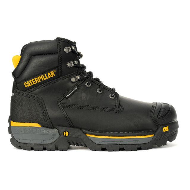Caterpillar Men's Excavator LT (Wide) Black Waterproof CSA Composite Toe Work...