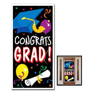 congrats grad congratulations graduation plastic door cover party