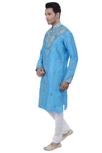 Ethnic Men/'s Indian Design Bollywood Kurta Sherwani 2pc Suit Worldwide Postage