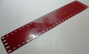 Meccano-197-Flexible-Metal-Plate-5-x-25-Hole-Mid-Red-Original-Used-Few-Marks