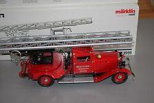 Märklin 1991 Feuerwehr Drehleiterwagen Blech OVP