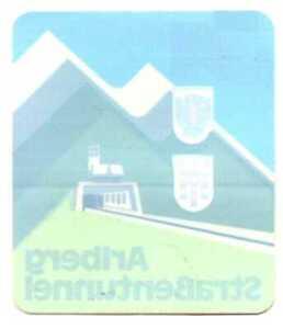alter Autoaufkleber Arlberg Straßentunnel 70er 80er Jahre Alpen Vorarlberg Tirol