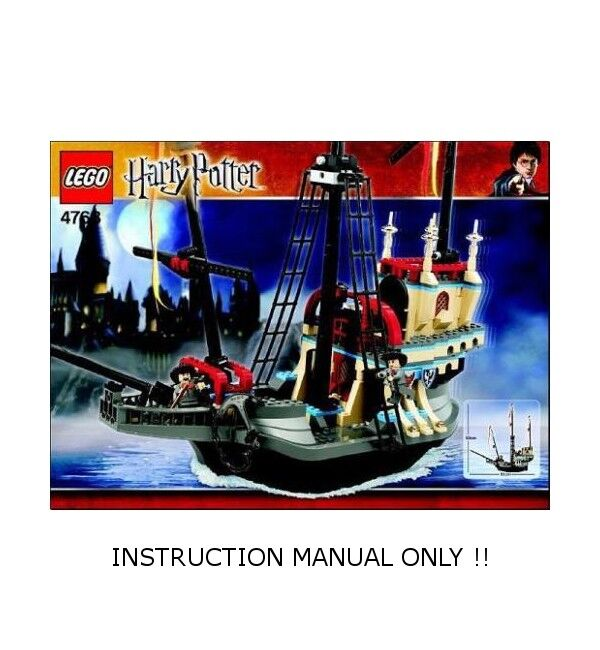 LEGO 4768 - HARRY POTTER - The Durmstrang Ship - INSTRUCTION MANUAL ONLY