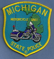 Michigan State Police Motorcycle Traffic Unit Patch