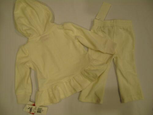 NWT PUMA hoodie jacket GIRL 2 PC size 12M  egret white