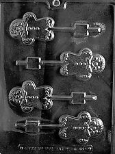 GINGERBREAD MAN LOLLY POP mold Chocolate Candy molds soap christmas cookies