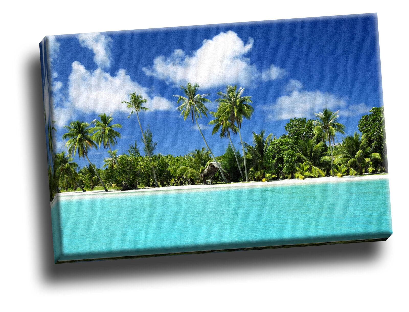 Tropical Retreat Giclee Canvas Seascape Picture Art