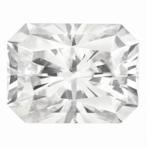 KüHn 1 Glanzschliff Moissanit Weiß Brillant 10x8mm Durchmesser 3.90 Gesamt Karat