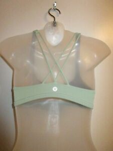 Lululemon-Athletica-4-Sports-Free-To-Be-Wild-Bra-Strappy-Back-Green-Yoga-Gym-Run