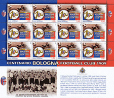 San Marino 2009 Minifoglio Centenario Bologna football club Mnh