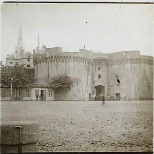 Francia Château Saint-Malo c1910 Foto Stereo Placca Da Lente VR12g