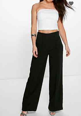 Ausdauernd New High Waist Flare Trousers Wide Leg - Black, Ivory And Coral Pls Read Full Ad Gute QualitäT
