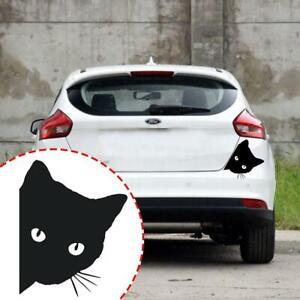 White/&Black Peeking Cat For Car Bumper Window Wall Decal Sticker Vinyl Y6Q8