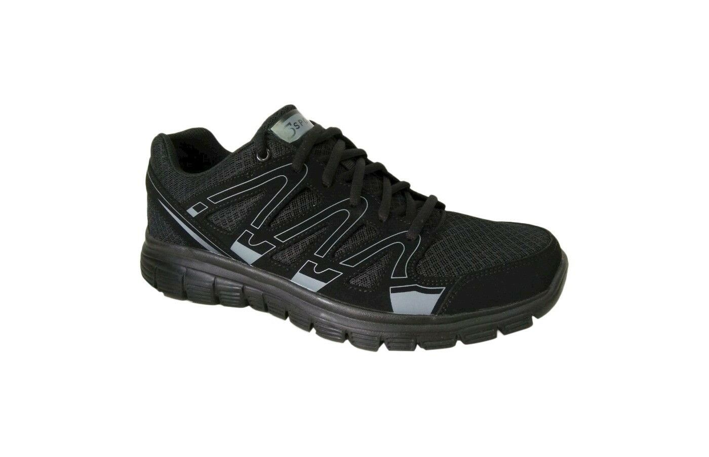 Men's S Sport By Skechers Striker Black Performance Athletic Shoes size 8,5 Special limited time