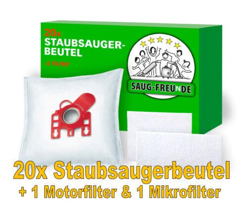 SAUG-FREUnDE 20 Staubsaugerbeutel+2 Filter für MIELE ECOSILENCE S 8390