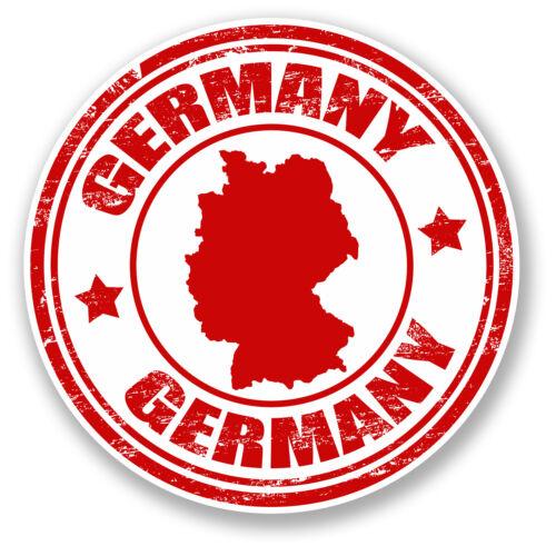 2 x Autocollant Vinyle Allemagne iPad ordinateur portable de voyage bagages tag cadeau drapeau Map # 4486