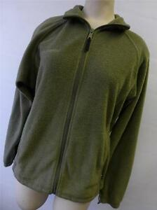 womens Columbia lime green zip up fleece Jacket Small coat ski