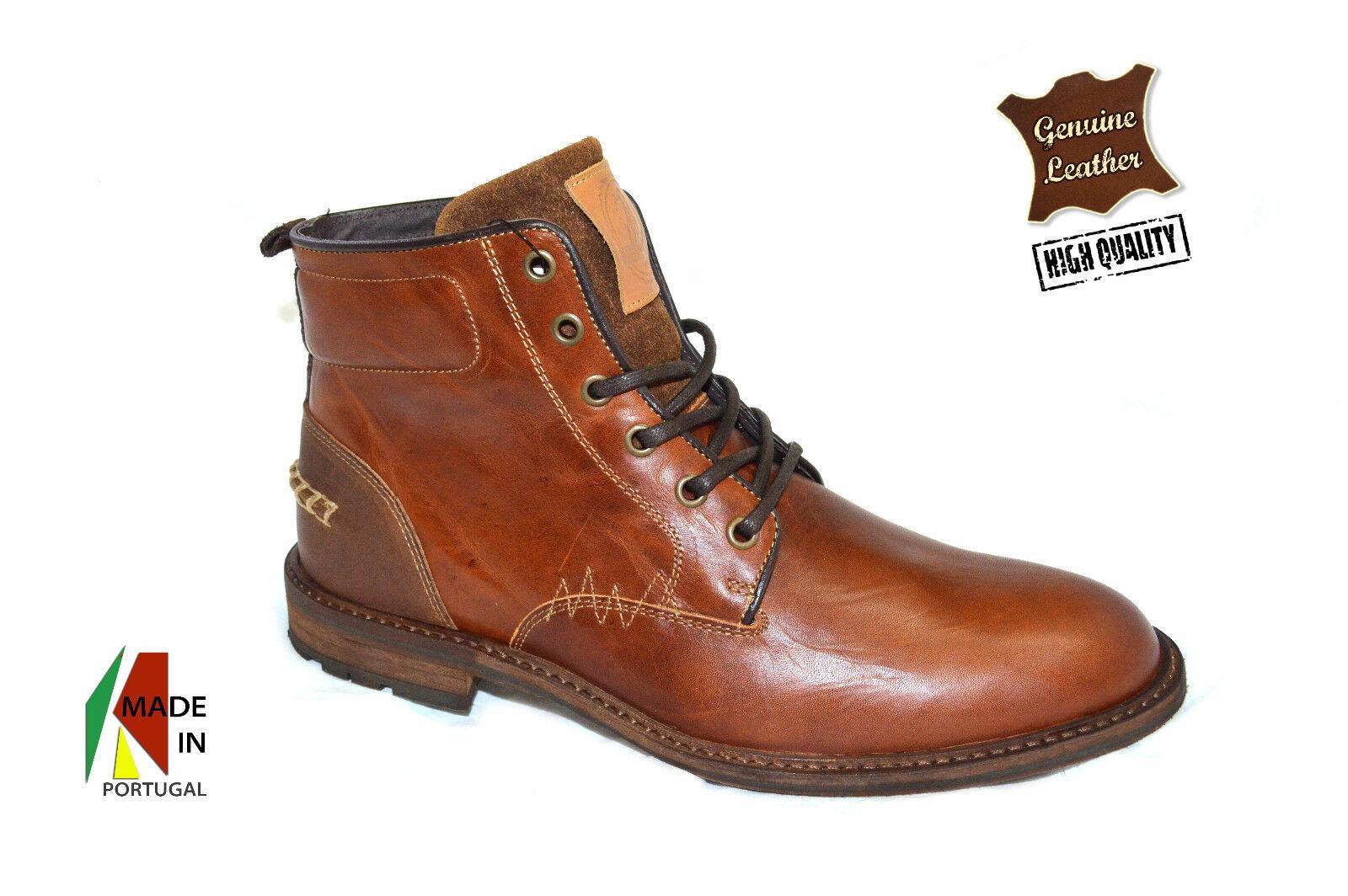 Leder Braun Leder Ankle Stiefel In Genuine Leder Braun 0ced0d