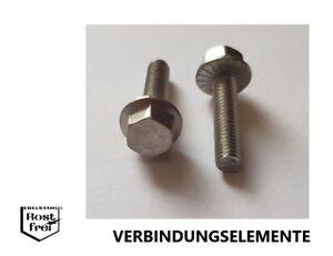 10 Schrauben 6-kant Flansch verzahnt DIN 6921 M5X25 A2