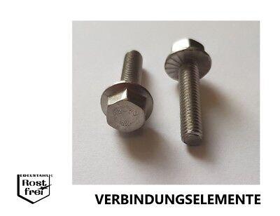 2 Schrauben 6-kant Flansch verzahnt DIN 6921 M8X60 A2